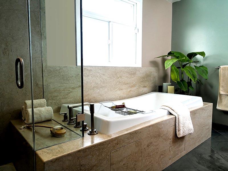 Salle de bain corian agencement conception salle de - Showroom salle de bain toulouse ...
